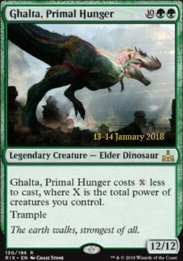 Ghalta, Primal Hunger (Prerelease Foil / Rivals of Ixalan)