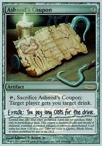 Ashnod's Coupon (Promo Foil)