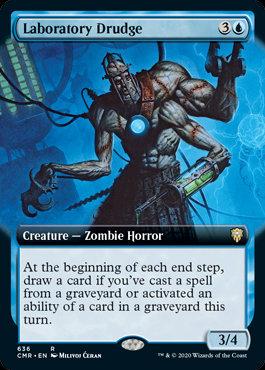 Laboratory Drudge (Ext Art / Commander Legends)