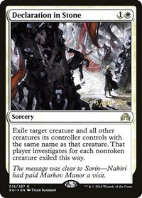 Declaration in Stone (Prerelease Foil / Shadows Over Innistrad)