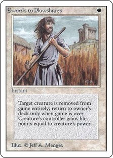 Swords to Plowshares (Unlimited)