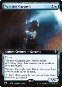 Vantress Gargoyle (Foil / Ext Art / Throne of Eldraine)