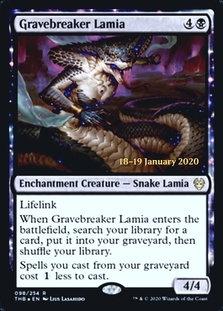 Gravebreaker Lamia ( Prerelease Foil / Theros Beyond Death)