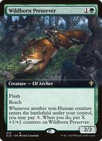 Wildborn Preserver (Foil / Ext Art / Throne of Eldraine)