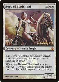 Hero of Bladehold (Prerelease Foil / Mirrodin Besieged)