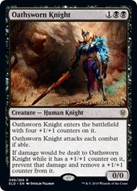 Oathsworn Knight (Prerelease Foil / Throne of Eldraine)