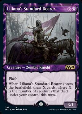 Liliana's Standard Bearer (Alt Art / CoreSet 2021)