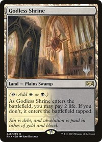 Godless Shrine (Stamped / Ravnica Allegiance)