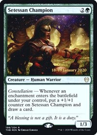 Setessan Champion (Prerelease Foil / Theros Beyond Death)