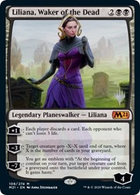 Liliana, Waker of the Dead (Stamped / CoreSet 2021)