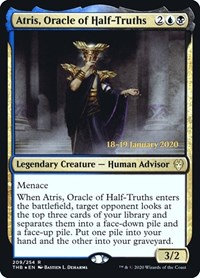 Atris, Oracle of Half-Truths (Prerelease Foil / Theros Beyond Death)