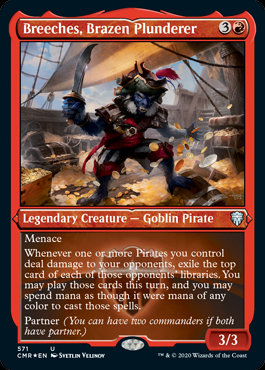 Breeches, Brazen Plunderer (Etched Foil / Commander Legends)