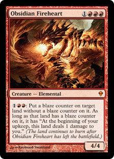 Obsidian Fireheart (Foil / Zendikar)