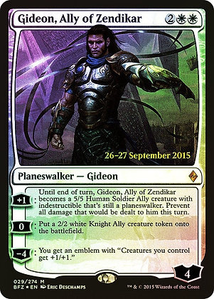 Gideon, Ally of Zendikar (Prerelease Foil / Battle for Zendikar)