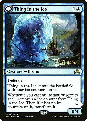 Thing in the Ice (Prerelease Foil / Shadows Over Innistrad)