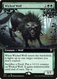 Wicked Wolf (Ext Art / Throne of Eldraine)