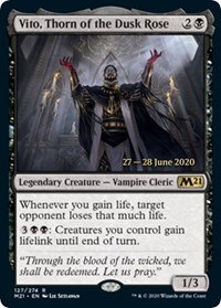 Vito, Thorn of the Dusk Rose (Prerelease Foil / CoreSet 2021)