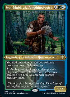 Gor Muldrak, Amphinologist (Etched Foil / Commander Legends)