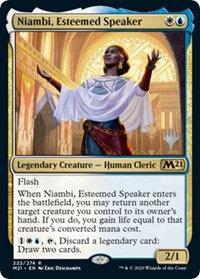 Niambi, Esteemed Speaker (Foil / Stamped / CoreSet 2021)