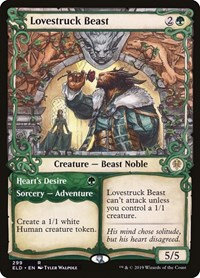 Lovestruck Beast (Alt Art / Throne of Eldraine)