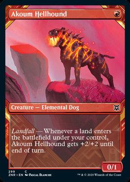 Akoum Hellhound (Alt Art / Zendikar Rising)