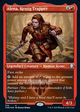Alena, Kessig Trapper (Etched Foil / Commander Legends)