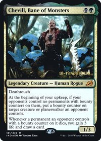 Chevill Chane of Monsters (Prerelease Foil / Ikoria - Lair of Behemoths)