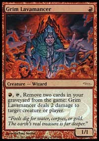 Grim Lavamancer (Foil / Judge Promo)