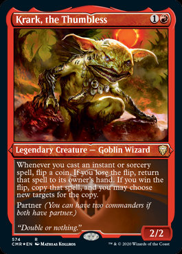 Krark, the Thumbless (Etched Foil / Commander Legends)