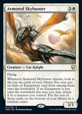 Armored Skyhunter (Foil / Ext Art / Commander Legends)
