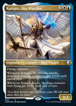 Kangee, Sky Warden (Etched Foil / Commander Legends)