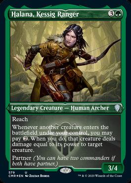 Halana, Kessig Ranger (Etched Foil / Commander Legends)