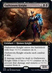 Oathsworn Knight (Extended Art / Throne of Eldraine)