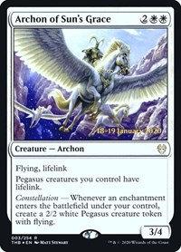 Archon of Sun's Grace (Prerelease Foil / Theros Beyond Death)