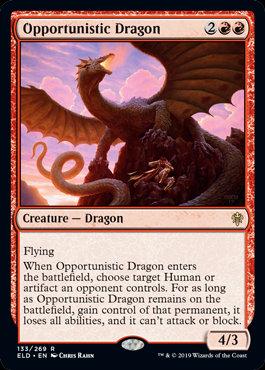 Opportunistic Dragon (Throne of Eldraine)