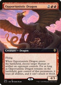 Opportunistic Dragon (Ext Art / Throne of Eldraine)