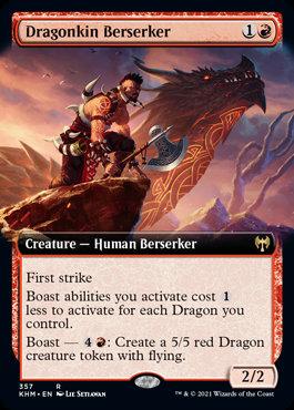 Dragonkin Berserker (Ext Art / Kaldheim)