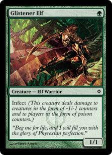 Glistener Elf (Foil / New Phyrexia)