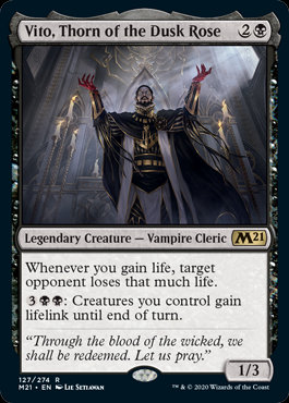 Vito, Thorn of the Dusk Rose (CoreSet 2021)