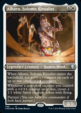 Alharu, Solemn Ritualist (Etched Foil / Commander Legends)