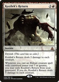 Kozilek's Return (Prerelease Foil / Oath of trhe Gatewatch)