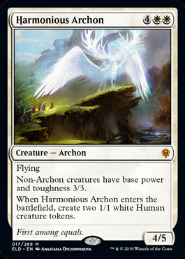 Harmonious Archon (Foil / Throne of Eldraine)