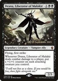 Drana, Liberator of Malakir (Prerelease Foil / Battle for Zendikar)