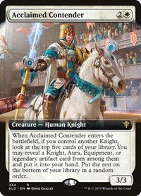 Acclaimed Contender (Ext Art / Throne of Eldraine)