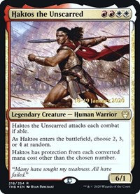 Haktos the Unscarred (Prerelease Foil / Theros Beyond Death)