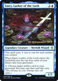 Emry, Lurker of the Loch (Prerelease Foil / Throne of Eldraine)
