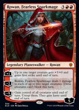 Rowan, Fearless Sparkmage (Throne of Eldraine)
