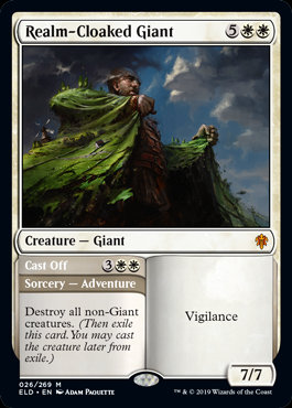 Realm-Cloaked Giant (Foil / Throne of Eldraine)