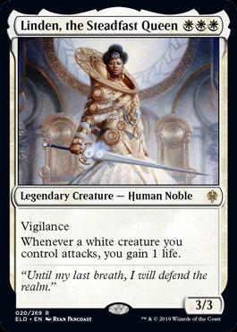 Linden, the Steadfast Queen (Foil / Throne of Eldraine)