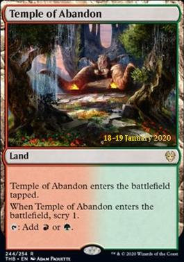 Temple of Abandon (Prerelase Foil / Theros Beyond Death)